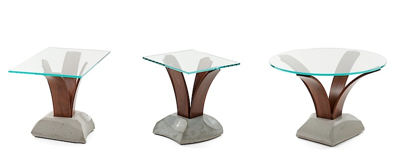 three versions of the Cito Table by Nico Yekati