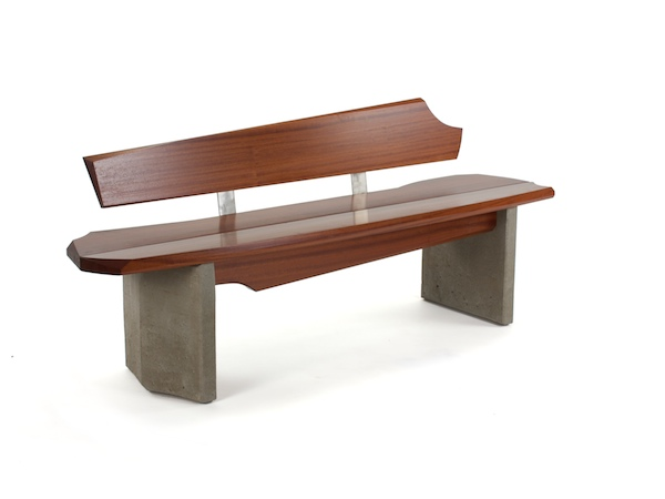 modern bench with back