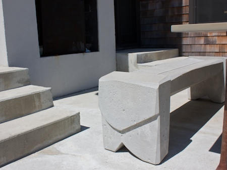 close up of bench 7 all concrete bench