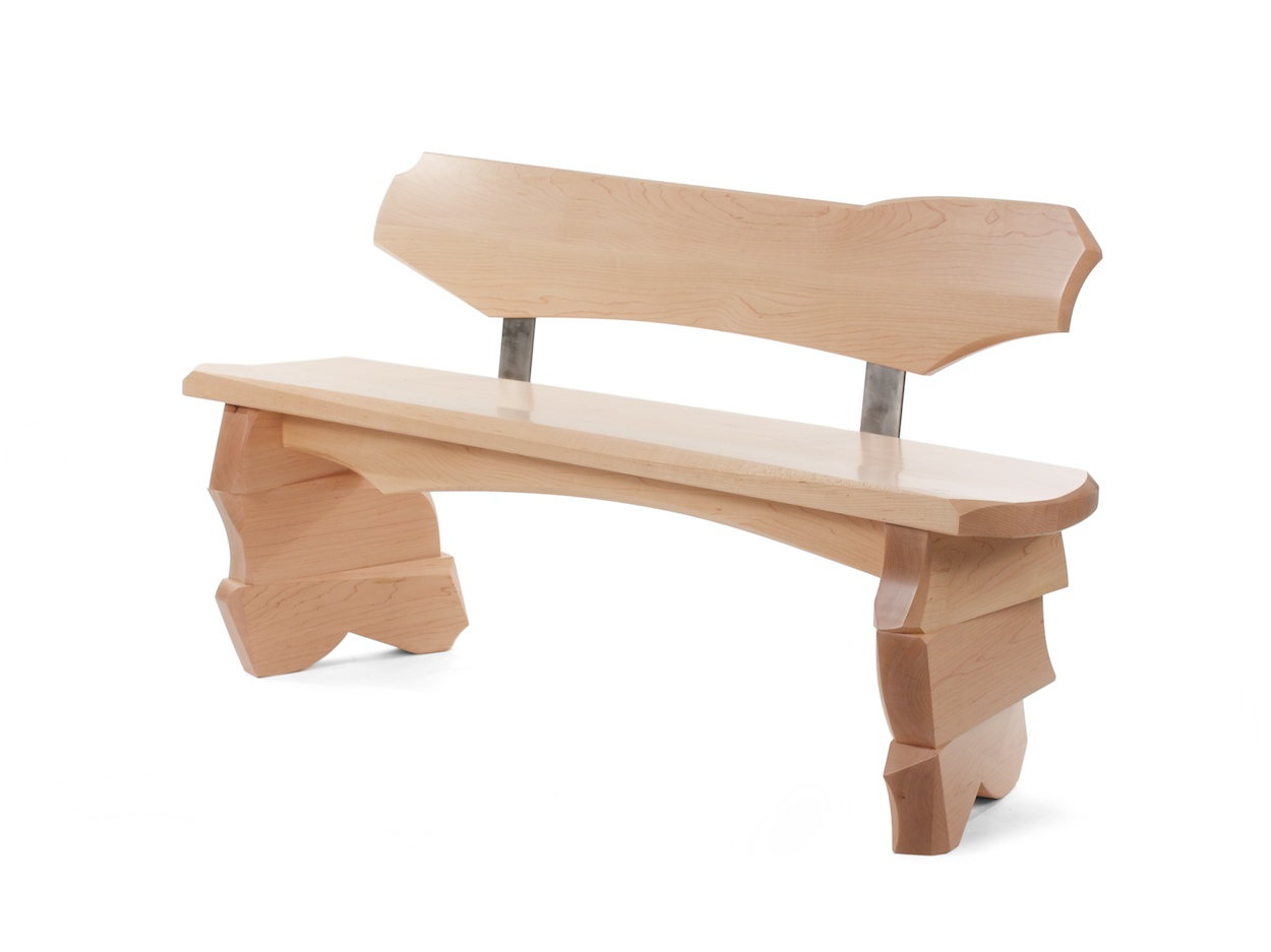 Aether - apartment sized bench in maple