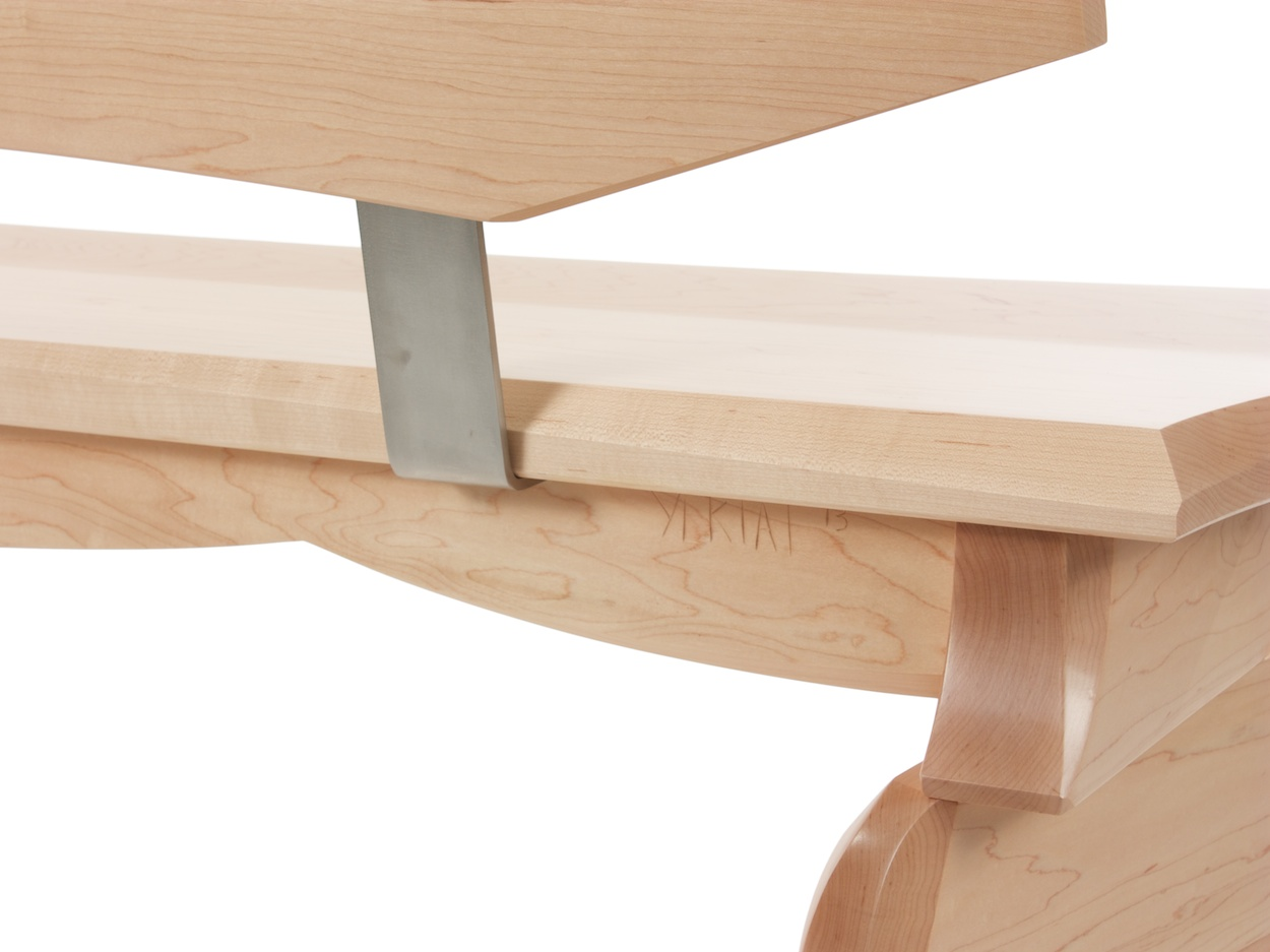 Aether bench - Maple and Stainless Steel