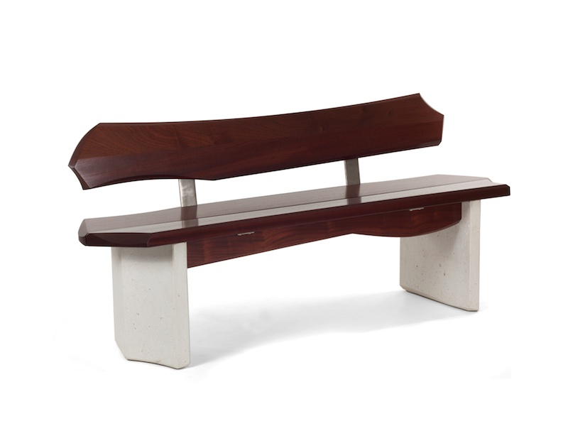 Bench #5 series #2- modern bench with back