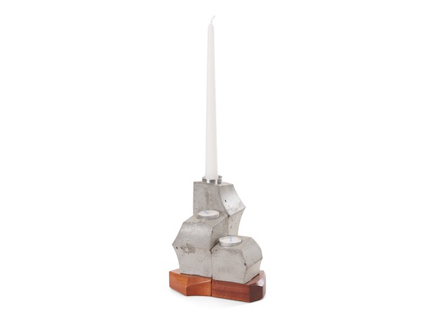 Contemporary candle holder sculpture