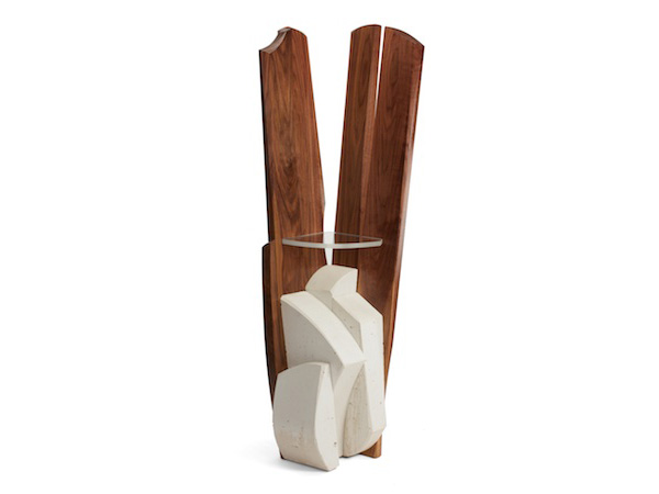 sculptural corner table/sculpture