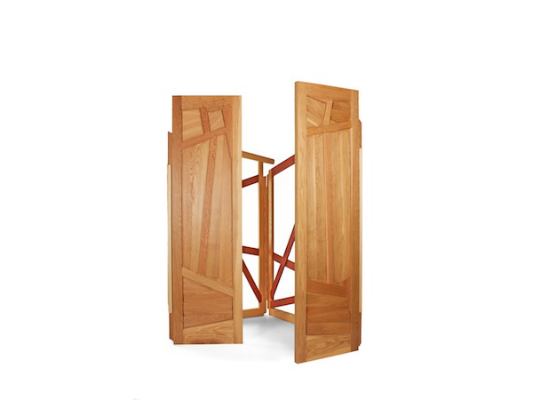 Doors from my memory of European travels presented as sculptural installation