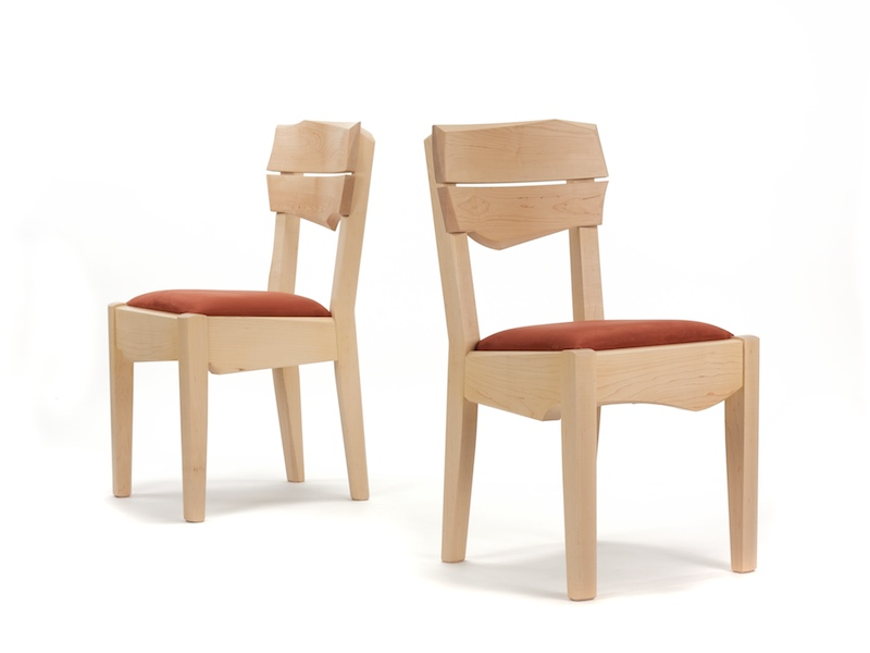 Chair #4- Modern Dining Chair made of maple wood with steam bent back