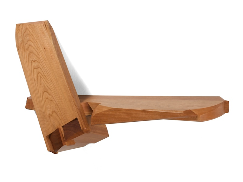 Dovetail Shelf- Modern Shelf made of cherry wood featuring striking dovetail a joint