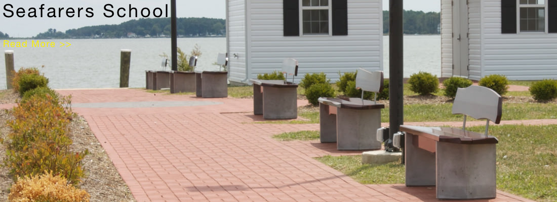 eight benches at Seafarers School, Piney Point, MD