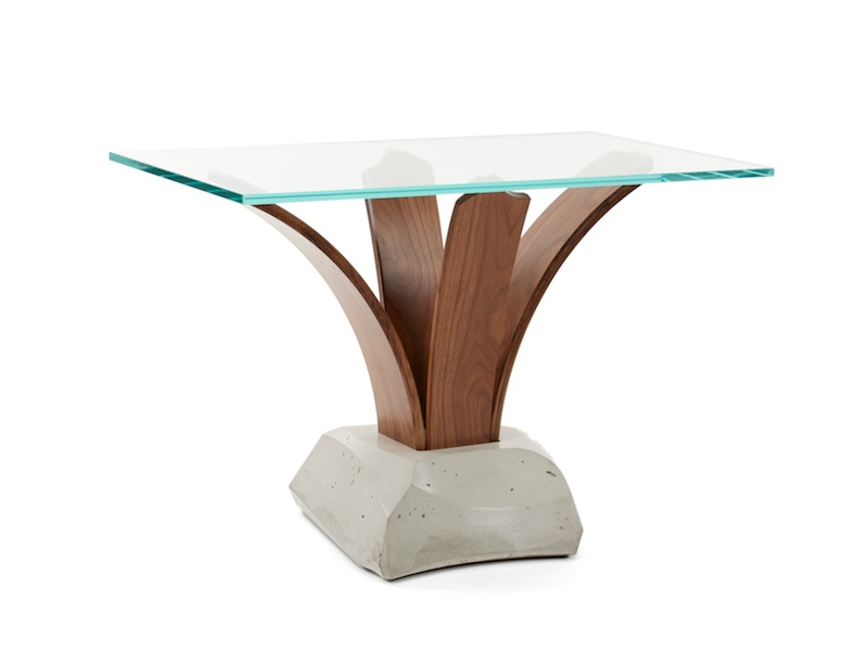 handmade modern accent table