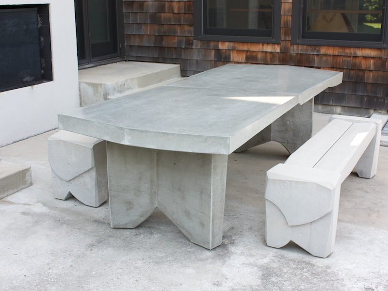 Nico Yektai Dining Table 5 Massive Concrete Dining Table