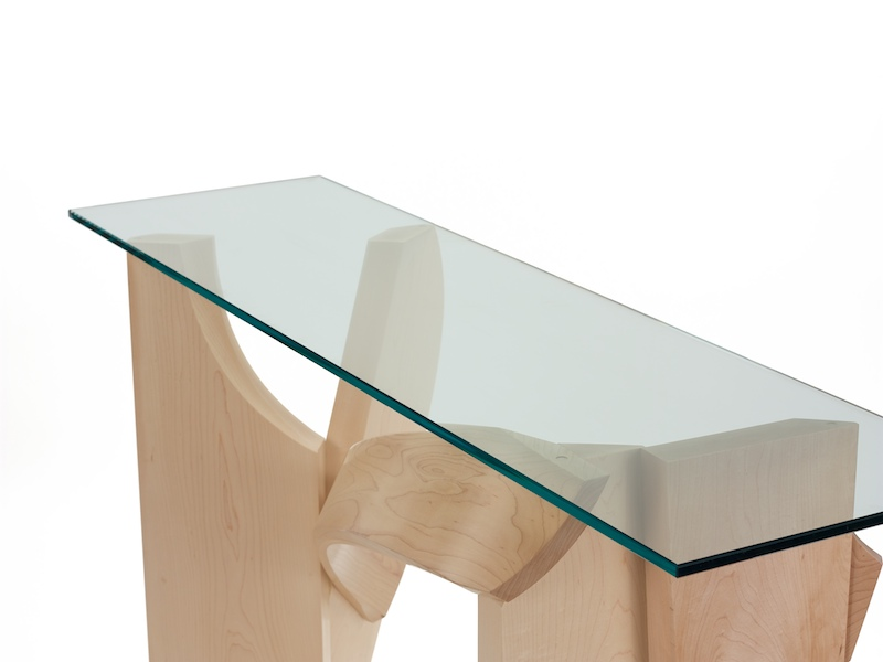 Glass Hall Table- detail