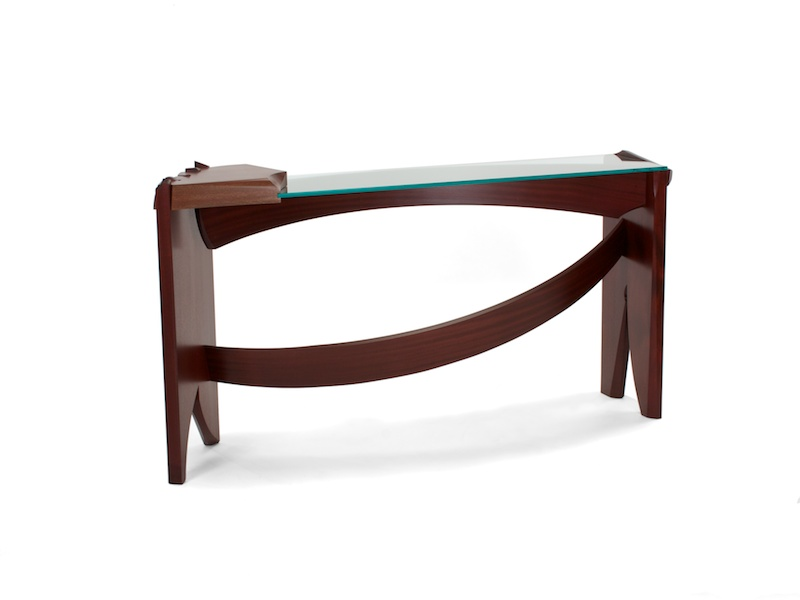 Lovely Massive Dovetails In This Creative Console Table. Curved Dovetail Console  Table