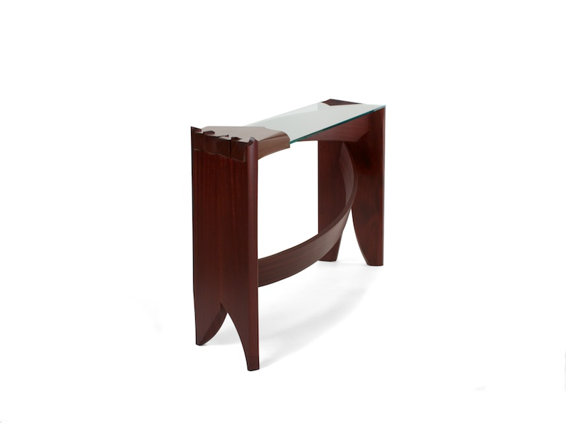 Curved Dovetail Console Table- second view